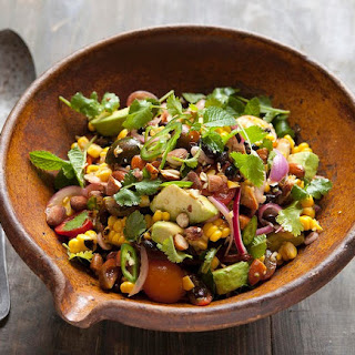 Grilled Sweet Corn Salad With Black Beans And Almonds