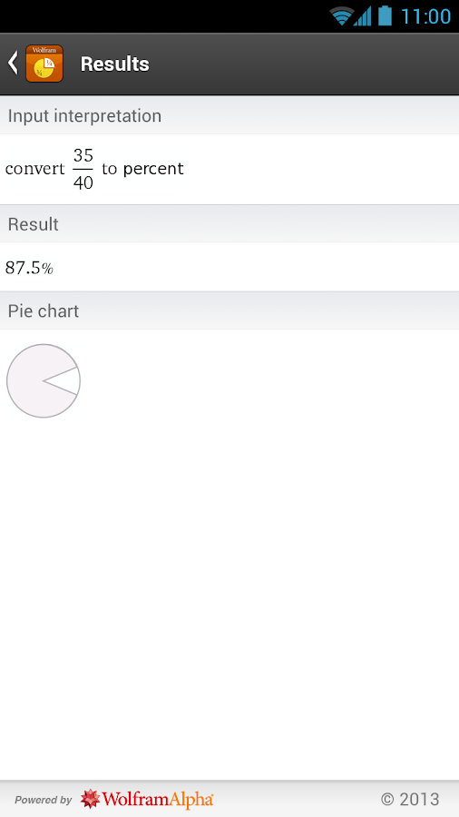 Fractions Reference App - screenshot