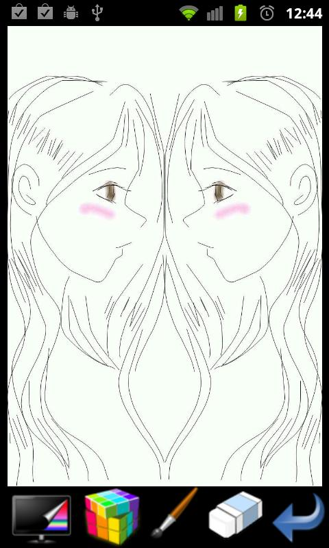 피카소 - 미러 페인트 (그림판) - screenshot