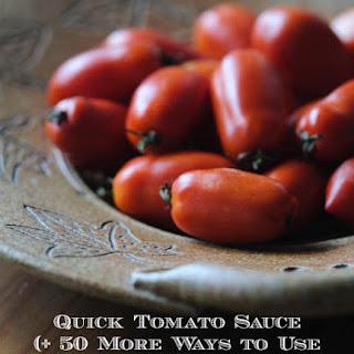 Quick Tomato Sauce.