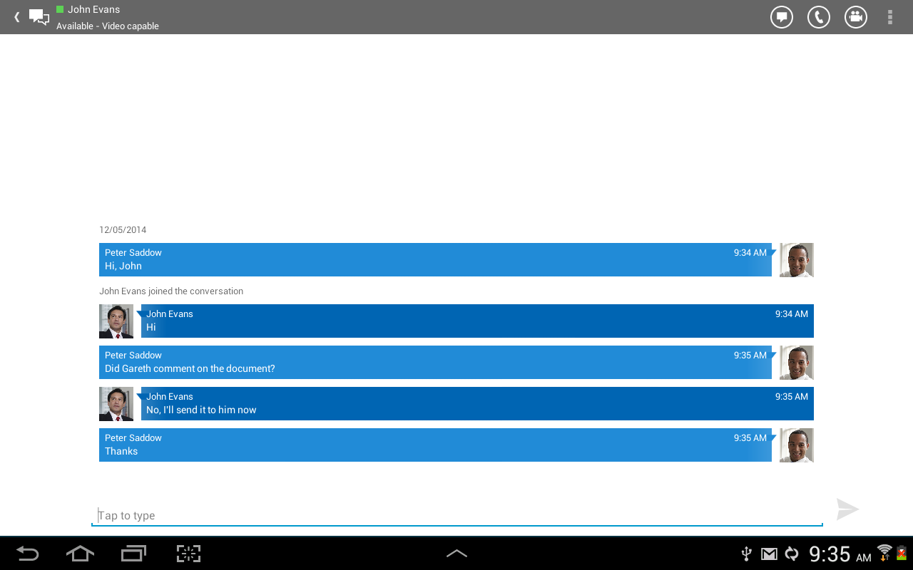 Lync 2013- screenshot