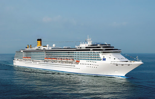 Costa-Mediterranea-aerial - Costa Mediterranea's ports calls include stops in Croatia, Montenegro, Italy and the Greek islands.