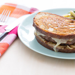 Beef Patty Melts with Green & Yellow Wax Bean Salad Recipe