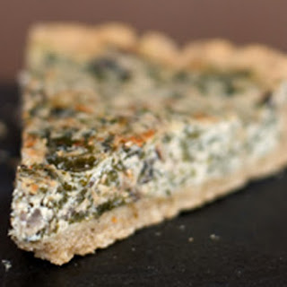 Spinach Mushroom Quiche.