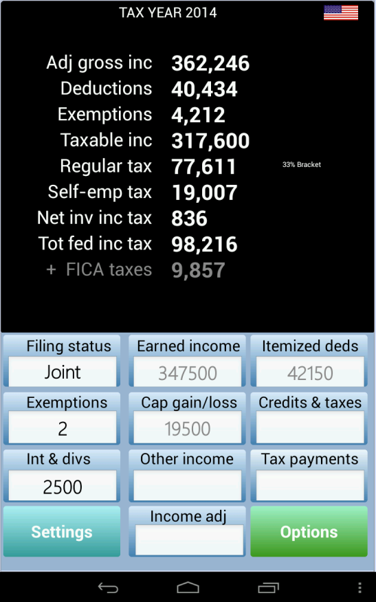 TaxMode: income tax calculator - screenshot
