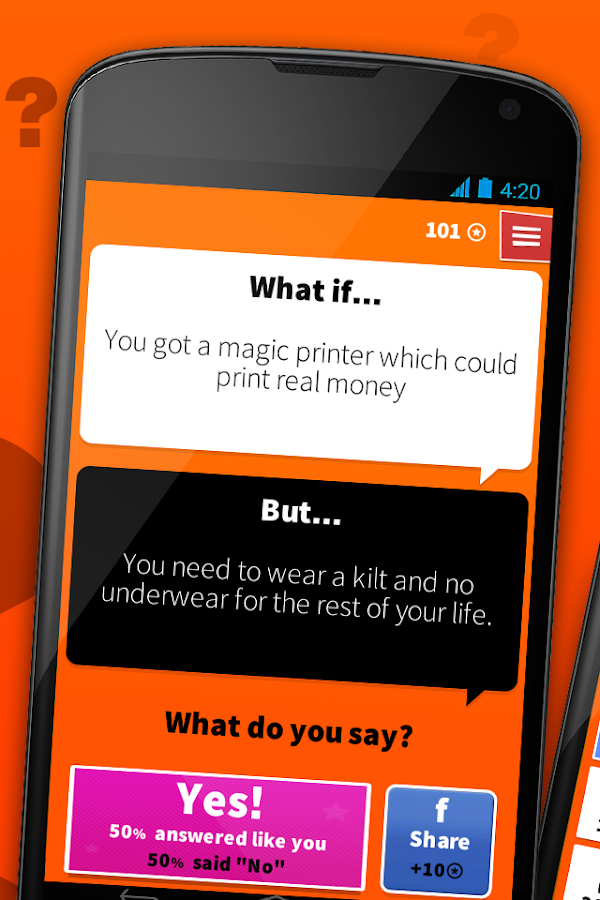 Screenshots of What if.. for iPhone