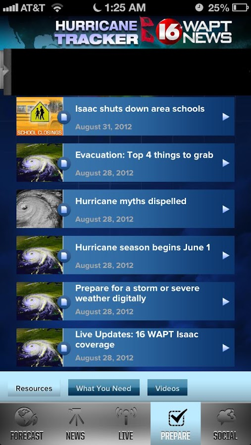 Hurricane Tracker 16 WAPT News - screenshot