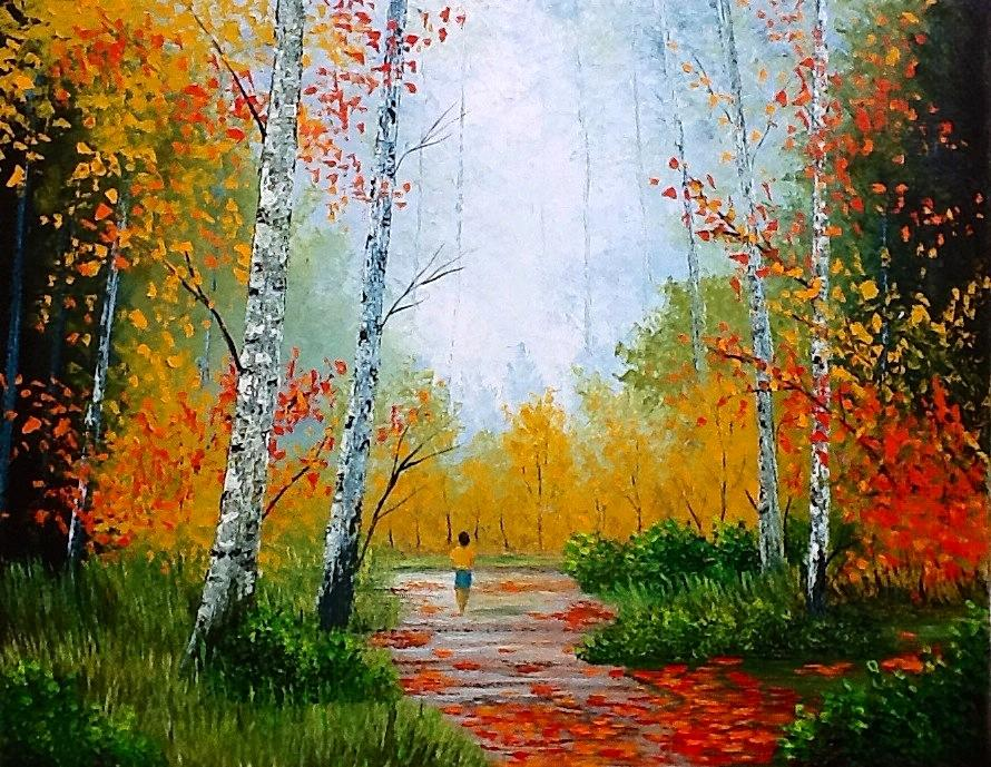 Nature's Beauty, Oil on canvas 22x28 by Kavita Motlag - Painting All Painting