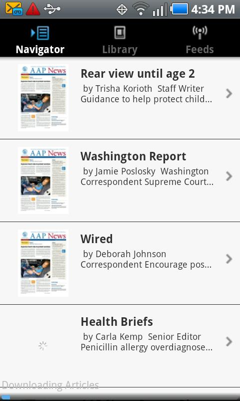 AAP News- screenshot