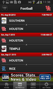Houston Cougars Athletics - screenshot thumbnail
