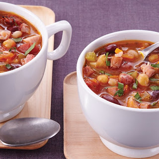 Slow-Cooker Heavenly Ham and Bean Soup.