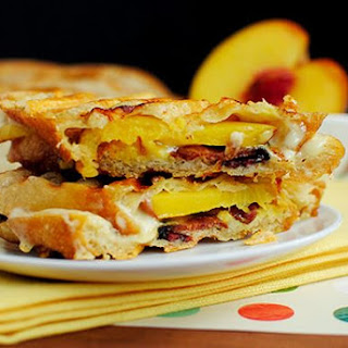 Bacon, Cheese and Peach Paninis