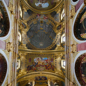 Vienna church by Edzo Boven - Buildings & Architecture Places of Worship ( church, pentax, Architecture, Ceilings, Ceiling, Buildings, Building )