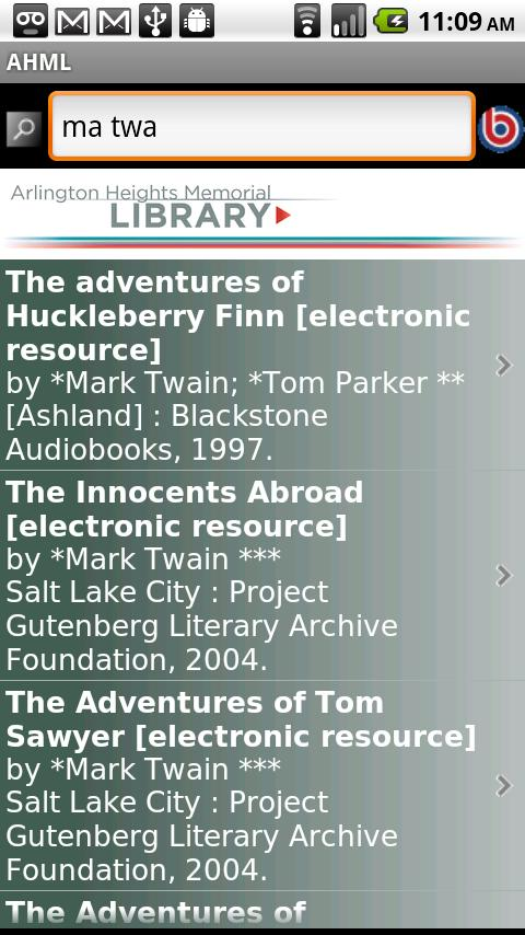 Arlington Heights Library- screenshot