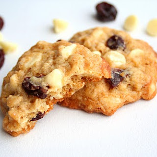 Cherry White Chocolate Chip Oatmeal Cookies.