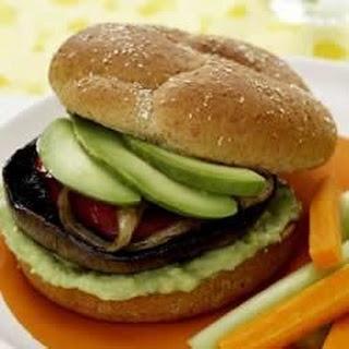 Portabella Burgers with Avocado Spread.