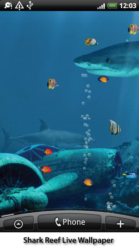 Shark Reef Live Wallpaper - screenshot