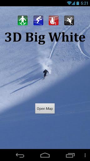 3D Big White Trail Map