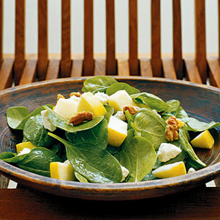 Spinach, Apple, and Walnut Salad.
