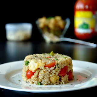 Quinoa with Curried Cauliflower & Potatoes.
