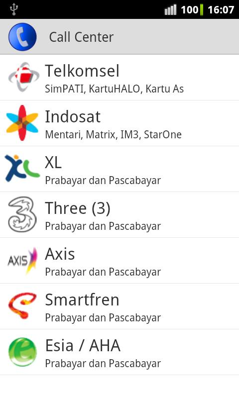Call Center Selular Indonesia - screenshot