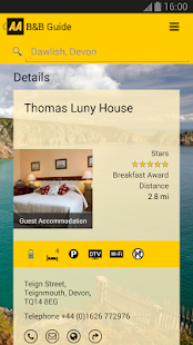 AA Bed & Breakfast Guide- screenshot thumbnail