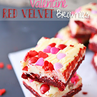 Valentine Red Velvet Brownies.
