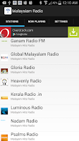 Screenshot of Malayalam Radio Stations