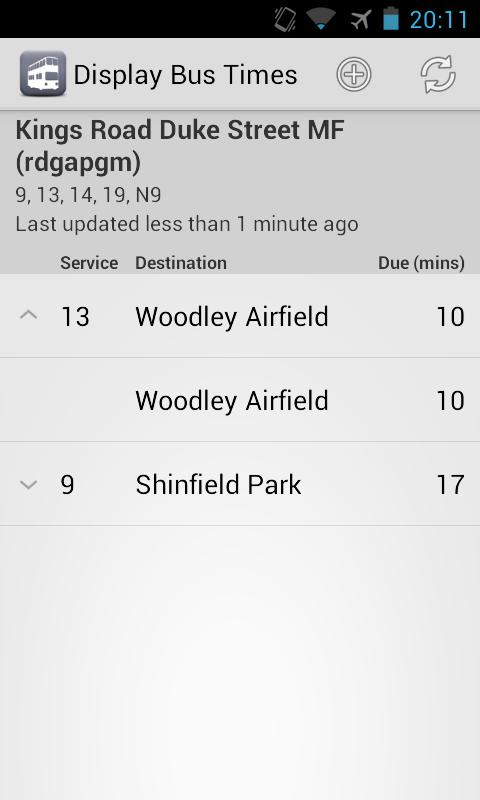 My Bus Reading - screenshot