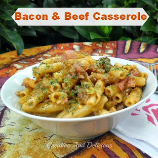 BACON AND BEEF CASSEROLE.