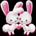 Love Rabbit Theme - Kawaii Cute Bunny Comic Theme download
