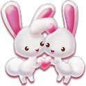 Pink Rabbit Pet Love Theme icon