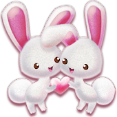 Love Pink Rabbit Pet Theme