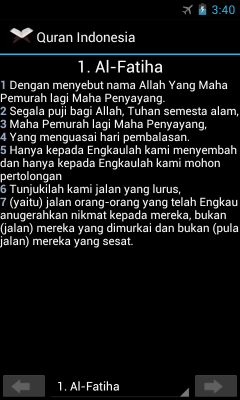 Quran Indonesia - screenshot