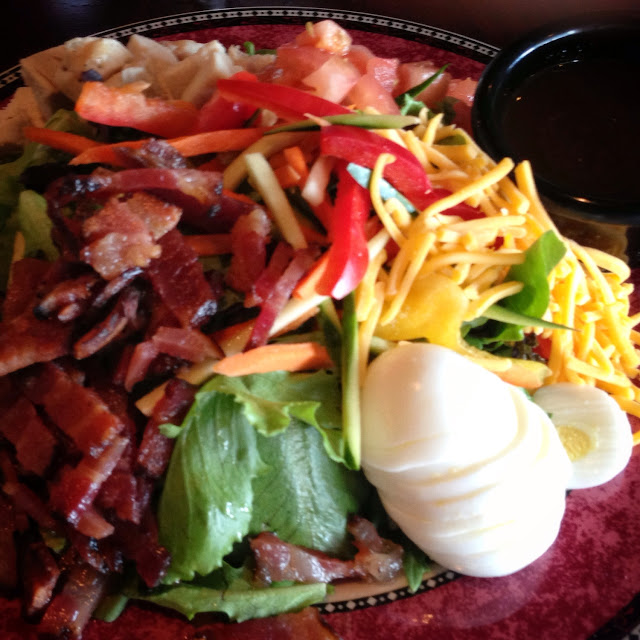 Cobb Salad with bacon and balsamic vinaigrette.