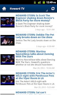 Howard Stern Mobile (Old) - screenshot thumbnail