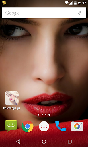 Charming Lips Live Wallpaper