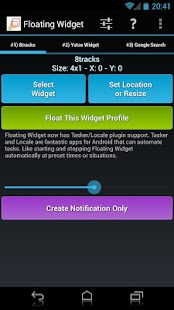 Floating Widget- screenshot thumbnail