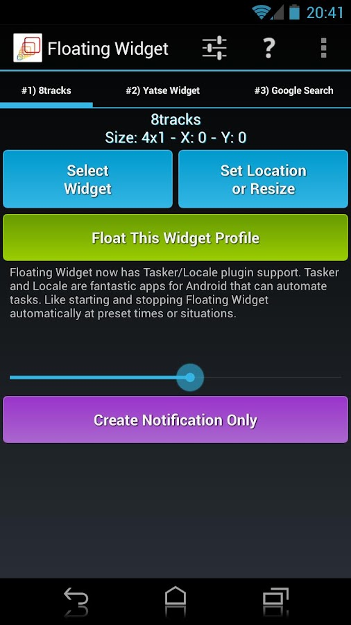 Floating Widget- screenshot