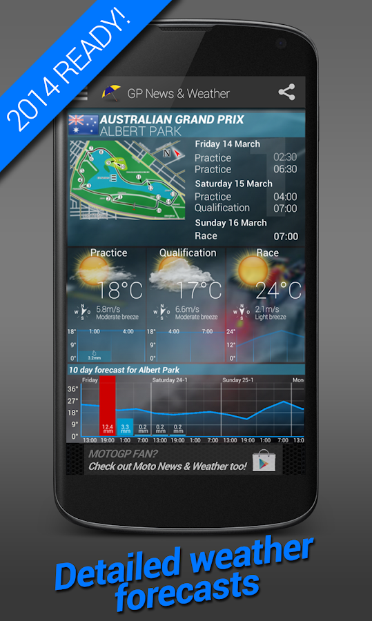 GP News & Weather 2014 - screenshot