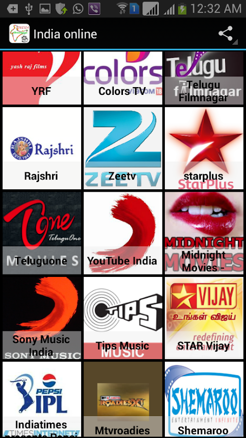 India Channels Online - screenshot