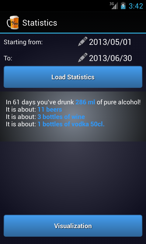 Alcohol Calculator PartyFriend - screenshot