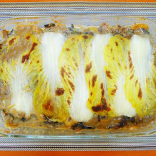 The Occasional Vegetarian's Cabbage and Mushroom 'Lasagna'