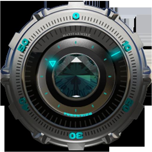Clock Widget Turquoise Diamond