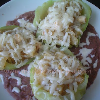 Chayote Squash with Panela Cheese and Tomatillo.