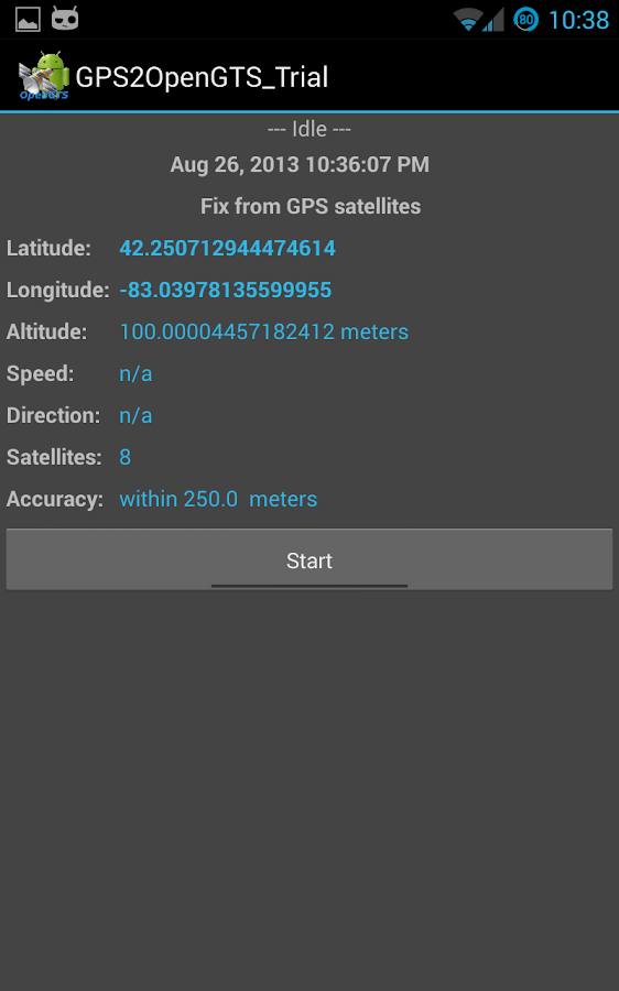 GPS2OpenGTS_Trial - screenshot