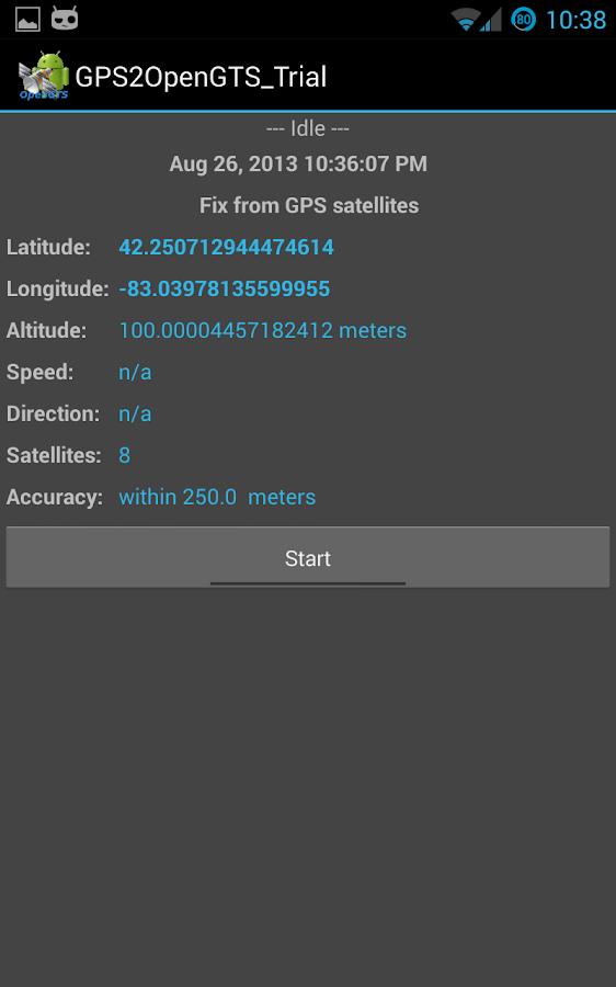 GPS2OpenGTS_Trial - screenshot