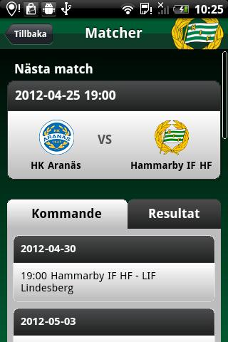 Hammarby IF HF - screenshot