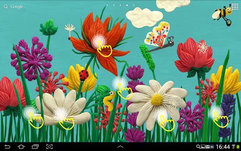 Plasticine Spring flowers LWP - screenshot thumbnail