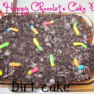 It's chocolate cake day! Dirt Cake